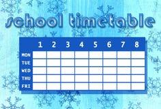 Horaire d'école Photo stock