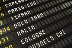 Horaire d'aéroport Photographie stock libre de droits