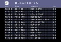 Horaire d'aéroport illustration libre de droits