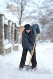 Horaire d'hiver, élimination de neige Images libres de droits