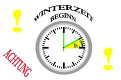 Horaire d'hiver, conversion de temps illustration de vecteur