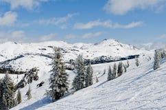 Horaire d'hiver dans Sierra Nevada Photographie stock libre de droits