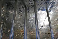 Horaire d'hiver en Klyde Warren Park à Dallas du centre Photographie stock libre de droits