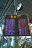 Horaire de départ d'aéroport Images stock