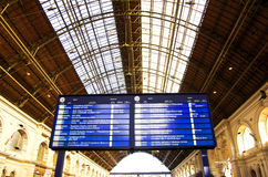 Horaire de train Photographie stock libre de droits