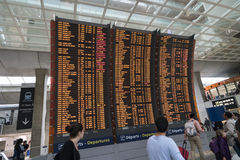Horaire de vol à l'aéroport Photos stock