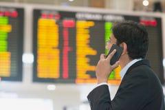 Horaire de vol de vérification Image libre de droits