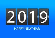 Horaire mécanique Carte de voeux 2019 de bonne année images libres de droits