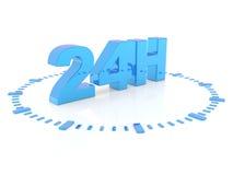 Horaires d'ouverture - halten Sie 24 h instand Lizenzfreies Stockfoto