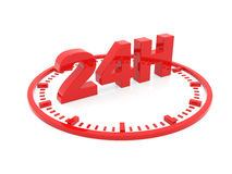 Horaires d'ouverture - service 24 h. 3d render Royalty Free Stock Photos