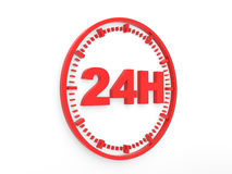 Horaires d'ouverture - service 24 h. Royalty Free Stock Photos