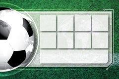 Horario de la competencia del fútbol del fútbol del fondo imagen de archivo libre de regalías