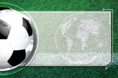 Horario de la competencia del fútbol del fútbol del fondo foto de archivo libre de regalías