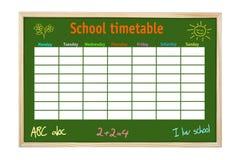 Horario de la escuela Fotografía de archivo libre de regalías