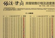 Horario de las ventas de la casa Imagen de archivo