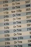Horario de vuelo Fotografía de archivo