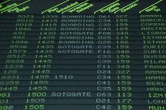 Horario de vuelo Imagen de archivo
