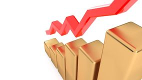 Horario del crecimiento de los ingresos El crecimiento de la producción Éxito en negocio 19 stock de ilustración