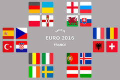 Horario final del EURO 2016 de la taza libre illustration