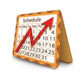 Horario mensual Imagen de archivo libre de regalías