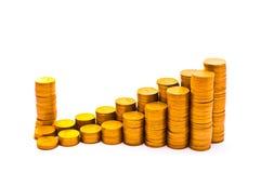 Horario que consiste en monedas Imagen de archivo libre de regalías