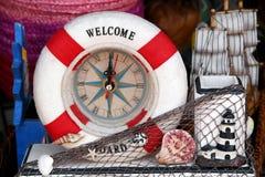 Horas com atributos do mar Foto de Stock
