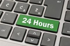 24 horas de botão Fotografia de Stock
