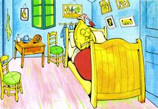 Horas de dormir ilustração royalty free
