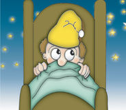 Horas de dormir sob as estrelas ilustração stock