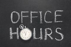 Horas de escritório GR Fotografia de Stock