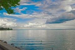 Horas de la tarde en el lago Balaton, Hungría Fotografía de archivo libre de regalías