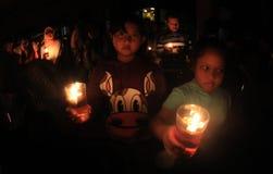 Horas de la tierra en Indonesia Fotos de archivo