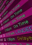 Horas de llegada Fotografía de archivo