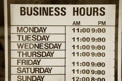 Horas de negócio Imagens de Stock