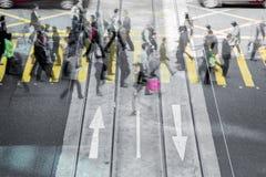 Horas de ponta dos povos de cidade Imagem de Stock Royalty Free