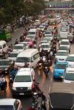 Horas de ponta em Banguecoque, Tailândia Imagem de Stock