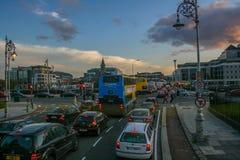 Horas de ponta em Dublin Fotos de Stock Royalty Free