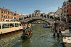 Horas de ponta em Veneza fotografia de stock royalty free