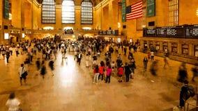 Horas de ponta na estação de Grand Central vídeos de arquivo