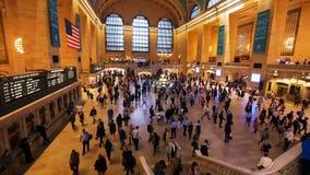 Horas de ponta na estação de Grand Central, aberta em 1871 vídeos de arquivo