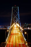 Horas de ponta na ponte da baía Imagem de Stock Royalty Free