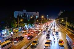 Horas de ponta no centro de Banguecoque Foto de Stock