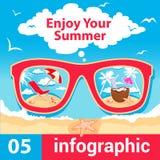 Horas de verão de Infographic Foto de Stock Royalty Free