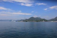 horas de verão em Seto Inland Sea imagem de stock royalty free
