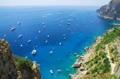 Horas de verão na ilha de Capri fotografia de stock