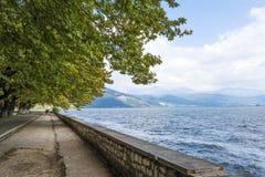 Horas de verão de Pamvotis do lago Ioannina, Epirus Grécia imagens de stock