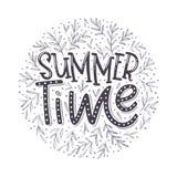 Horas de verão - projeto tipográfico tirado mão Imagens de Stock