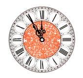 Horas del Año Nuevo Imagenes de archivo
