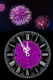 Horas del Año Nuevo Fotografía de archivo libre de regalías