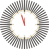 Horas del lápiz Fotografía de archivo